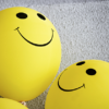 Smiley face on some balloons