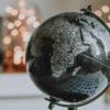 globe on a notepad