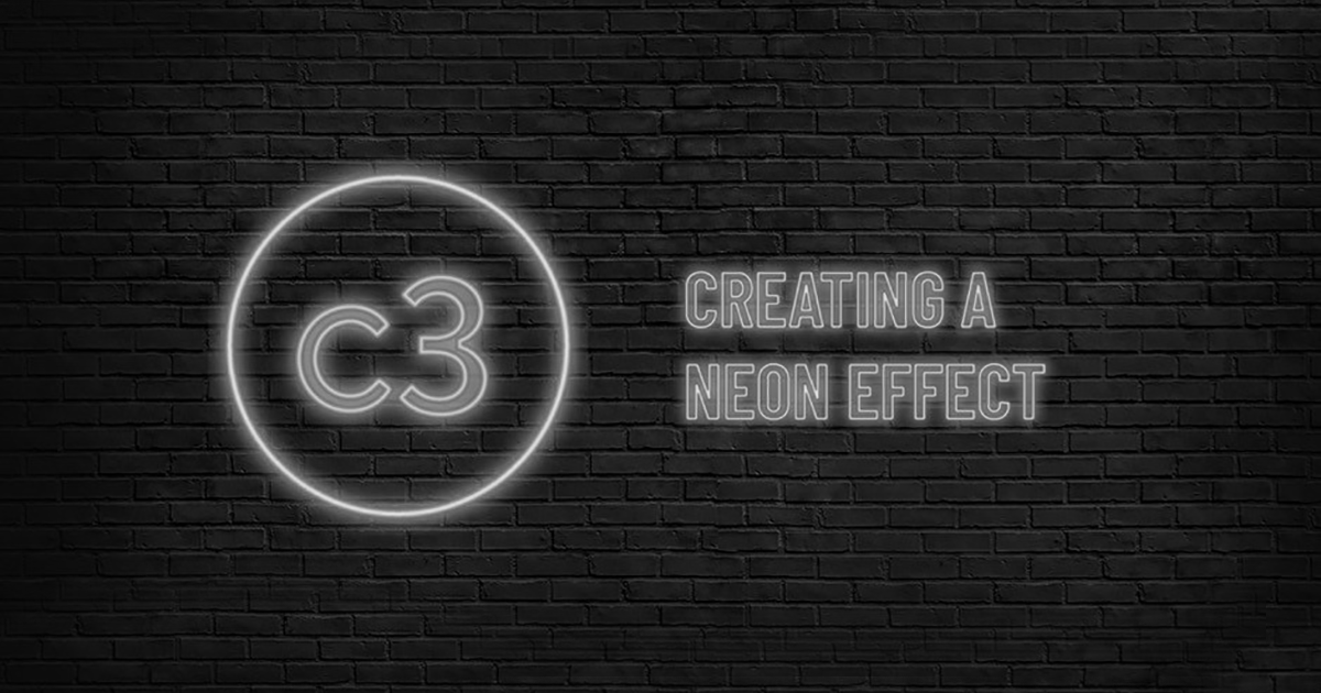 Creating a neon effect